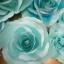 ดอกไม้กระดาษโทนสีฟ้าน้ำทะเล - flower paper backdrop - ขนาด 30 cm thumbnail 1