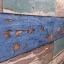 "Wallpaper Sticker วอลล์เปเปอร์แบบมีกาวในตัว ""ลายไม้เก่าสีฟ้า สไตล์วินเทจ"" หน้ากว้าง 1.22m ตัดขายตามความยาว เมตรละ 250 บาท thumbnail 4"