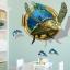 """สติ๊กเกอร์ติดผนัง 3D """"เต่าทะเล Sea Turtle"""" ความสูง 94cm กว้าง 83cm thumbnail 3"""