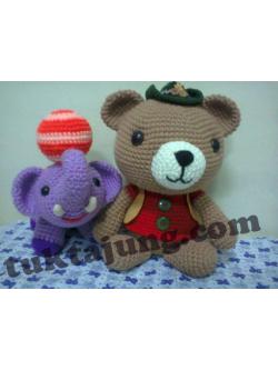 ตุ๊กตาหมี ถักโครเชร์