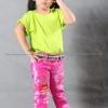 เสื้อยืดเด็ก สีเขียวมะนาว คอกลม แขนสั้น Size L