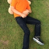 เสื้อยืดเด็ก สีส้ม คอกลม แขนสั้น Size M