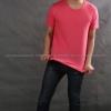 3XL เสื้อยืด สีชมพู Sweety คอกลม แขนสั้น Size 3XL