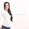 เสื้อยืด สีขาว คอวี แขนยาว Size L