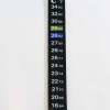 Dual Scale Liquid Crystal Thermometer Sticker - Type I