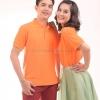 เสื้อโปโล สีส้ม TK Premium แขนสั้น ทรงตรง Size 3XL