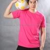 4XL เสื้อยืด สีชมพู Pinky คอกลม แขนสั้น Size 4XL