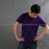 XL เสื้อยืด สีม่วงเข้ม คอกลม แขนสั้น Size XL
