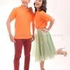 เสื้อโปโล สีส้ม TK Premium แขนสั้น ทรงตรง Size 2XL