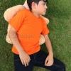 เสื้อยืดเด็ก สีส้ม คอกลม แขนสั้น Size 2XL