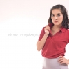 เสื้อโปโล สีเลือดหมู TK Premium แขนสั้น ทรงเว้า (หญิง) Size XL
