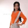 เสื้อยืด สีส้ม คอวี แขนยาว Size 2XL สำเนา