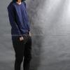 เสื้อยืด สีกรมท่า คอกลม แขนยาว Size 3XL