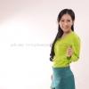 เสื้อยืด สีเขียวมะนาว คอวี แขนยาว Size 4XL
