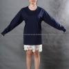 เสื้อยืด สีกรมท่า คอกลม แขนยาว Size L