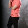 2XL เสื้อยืด สีโอลด์โรส คอกลม แขนสั้น Size 2XL