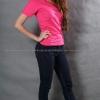 S เสื้อยืด สีชมพู Pinky คอวี แขนสั้น Size S