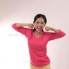 เสื้อยืด สีชมพู Pinky คอวี แขนยาว Size XL สำเนา