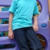 เสื้อยืดเด็ก สีเขียวมิ้นต์ คอกลม แขนสั้น Size M