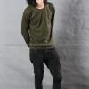 เสื้อยืด สีเขียวขี้ม้า คอกลม แขนยาว Size 4XL สำเนา