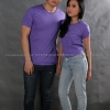 2XL เสื้อยืด สีม่วงอ่อน คอกลม แขนสั้น Size 2XL สำเนา