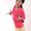 เสื้อยืด สีชมพู Pinky คอวี แขนยาว Size 3XL สำเนา