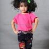 เสื้อยืดเด็ก สีชมพู Pinky คอกลม แขนสั้น Size L