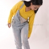 เสื้อยืด สีเหลือง คอวี แขนยาว Size S