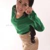 เสื้อยืด สีเขียวใบไม้ คอวี แขนยาว Size 3XL สำเนา
