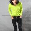เสื้อยืด สีเขียวมะนาว คอกลม แขนยาว Size XL สำเนา