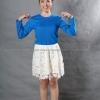 เสื้อยืด สีฟ้าทะเล คอกลม แขนยาว Size S สำเนา