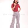เสื้อโปโล สีเลือดหมู TK Premium แขนสั้น ทรงเว้า (หญิง) Size M