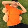 เสื้อยืดเด็ก สีส้ม คอกลม แขนสั้น Size L สำเนา