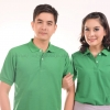 เสื้อโปโล สีเขียวใบไม้ TK Premium แขนสั้น ทรงตรง Size 2XL