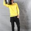 เสื้อยืด สีเหลือง คอกลม แขนยาว Size 2XL