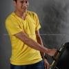 XL เสื้อยืด สีเหลือง คอวี แขนสั้น Size XL