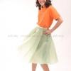 เสื้อโปโล สีส้ม TK Premium แขนสั้น ทรงเว้า (หญิง) Size 2XL