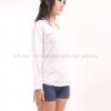 เสื้อยืด สีขาว คอวี แขนยาว Size 4XL