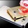 เคส A8 A8000 กรอบอลูมิเนียม+ฝาหลังอะคริลิค สะท้อน (สีทอง/เงิน/ดำ/ชมพู)