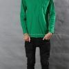 เสื้อยืด สีเขียวใบไม้ คอกลม แขนยาว Size 2XL