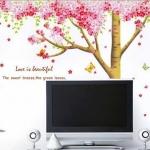 BigSize Transparent wall sticker สติ๊กเกอร์ติดผนัง Love is beautiful