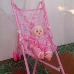 ชุดรถเข็นแถมตุ๊กตาสีชมพูสุดน่ารัก