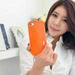 เคสฝาหลัง iPhone5/5s อลูมิเนียม ทรงอินเทรนด์ (สีส้ม)