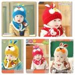 set หมวก+ผ้าพันคอ ลาย Bunny
