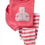 ชุดนอน Baby Gap ลายหมีชมพู ไซส์ 6T