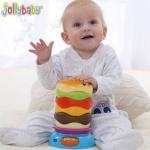 Jolly baby ห่วงเรียงซ้อนรูปแฮมเบอเกอร์