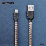 สายชาร์จแบบถัก REMAX แท้ สำหรับ iPhone6/plus/5s/5 (สีเหลือง) 1เมตร