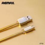 สายชาร์จ ซัมซุง/Android เคเบิล ยาว1เมตร REMAX แท้ (สีทอง)