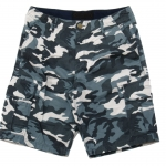 White and Blue Camo Cargo Shorts for Men - size 34