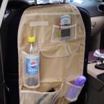 กระเป๋าแขวนเบาะหลังรถกันน้ำ สีดำ